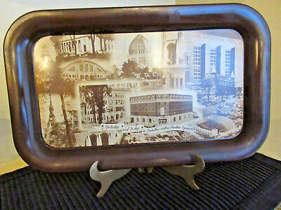 Vtg 1955 Tray First National Bank and Trust Evanston, Ilinois Canco