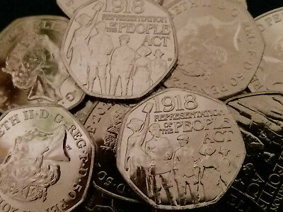 2018 REPRESENTATION OF THE PEOPLE ACT 1918. Fifty pence. FROM A SEALED BAG :)