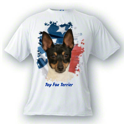 Toy Fox Terrier   # 3   Stars & Stripes   PERSONALIZED    Custom Pet T shirt