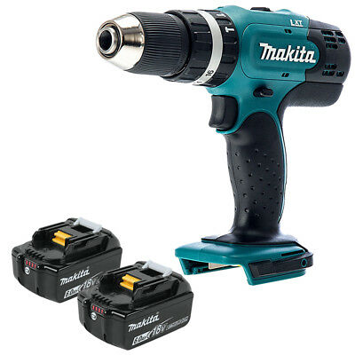 Makita DHP453 18V 13mm 2 Speed LXT Combi Drill Body With 2 x 6Ah Batteries