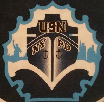 NYPD New York City Police Department NYC T-Shirt USN Sz M NEW