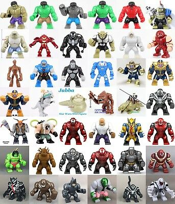 All collection 7.5cm Superhero Marvel Star Wars Ninjago Minifigure Fit Lego