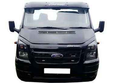 FORD Transit MK7 Sun Visor  AND  Bonnet  Bug Guard 2006-2013 WITH Vinly Text