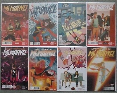 Ms Marvel #12-19 Set.g. Willow Wilson.marvel 2015 1St Print.vfn+.Kamala Khan.1/8