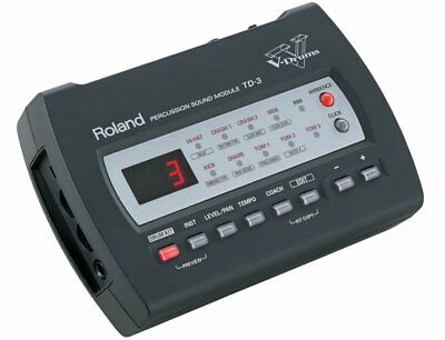Roland Td-3 Percussion Sound Module Drum Machine & Power Supply