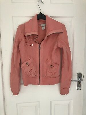 Girls Diesel Zip Up Jacket - Coral Colour - XL