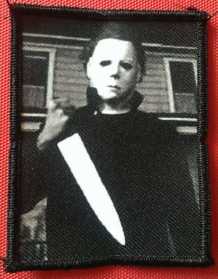 """☆ Michael Myers Halloween 4.5 x 3"""" 1978 Classic Horror Movie Poster Patch ☆"""