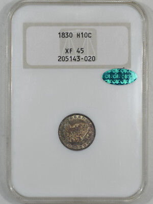 1830 Capped Bust Half Dime Ngc Xf-45 Cac Approved