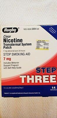 NICOTINE STEP 3 Clear Patch-14 Patches 2 Week Kit. 02/2019.