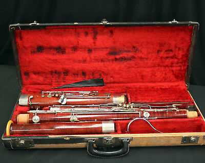 G KOHLERT WOODEN BASSOON {Recent Service} Made in Germany DECENT PLAYER