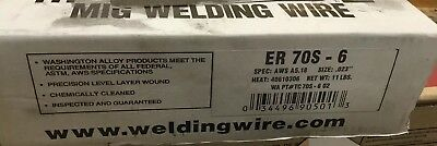 "11 Lb Roll .035"" Mild Steel MIG Welding Wire ER70S-6 ""New In Box"""