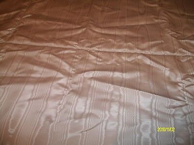 Vintage Pink Moire Fabric Draperly Weight By The Yard