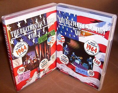 The Beatles U.s.a. 1964 Complete Video Diary Of North America Tour 8Dvd Set
