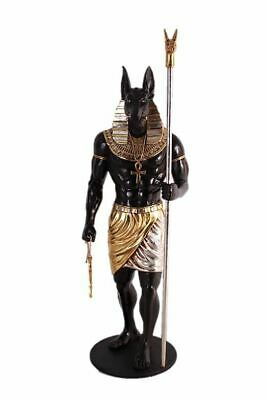 Egyptian Anubis God 6ft Life Size Statue Prop Home Decor Resin Display