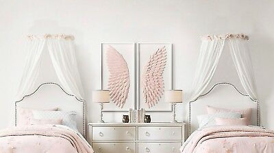 TWIN Single Bed Canopy Frames x2 to create  Bed Corona Coronet bed canopy effect