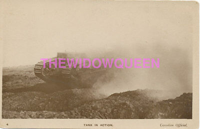 Military WW1 Tank In Action RPPC 1917