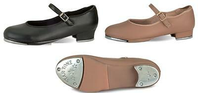 NEW TAP Dance Shoes Mary Jane Child-Adult SIZES Tan or Black Comfort Value