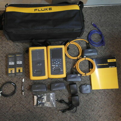 Fluke DSP-4000 Cable Analyzer with DSP-4000SR Full Kit