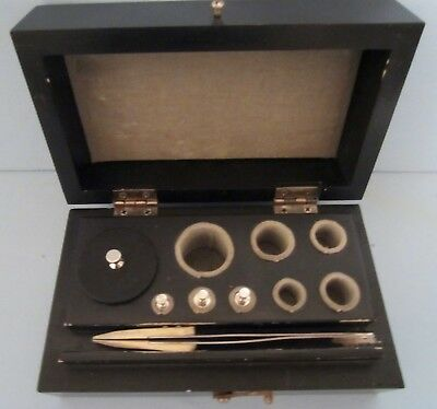 Vintage Christian Becker Calibration Weight Set in Wooden Box