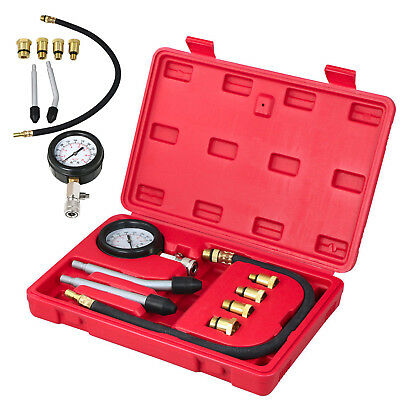 Diesel Petrol Engine Cylinder Pressure Tester Compression Gauge Car Valve Tools
