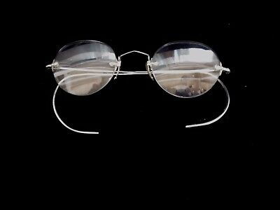 Antique Rimless Spectacles Eyeglasses with 14k Nose Pad