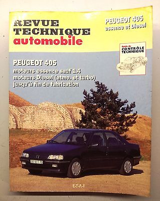 Revue Technique Automobile    RTA    PEUGEOT 405    Essence et Diesel      N°726