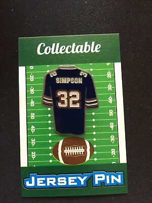 c9571a842 Buffalo Bills OJ Simpson jersey lapel pin-Classic Retro Collectable-The  JUICE