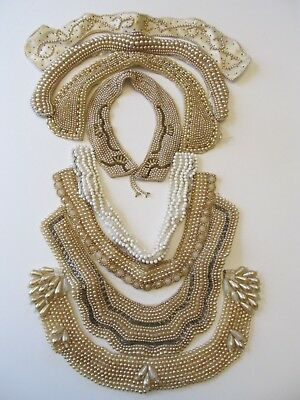 Vintage Lot of 8 Beaded Faux Pearl Made in Japan Collar Necklace Jewelry