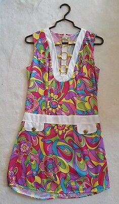 Vintage 1960's Mod Psychedelic Hippie Go Go Dress !! Very Nice Hand Made Dress !