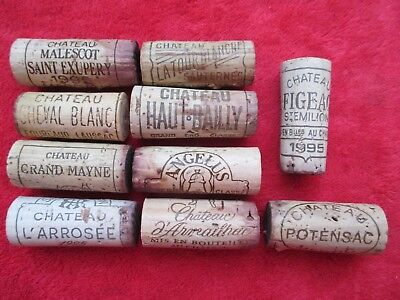 10 x Bordeaux 1995 BOUCHON VIN BOTTLE WINE CORK vintage