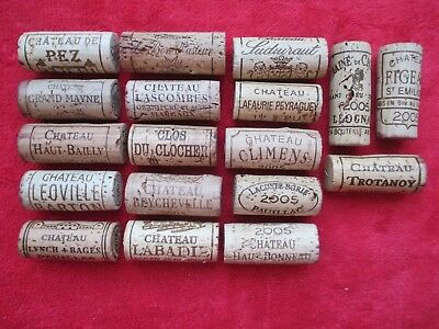 18 x Bordeaux 2005 BOUCHON VIN BOTTLE WINE CORK vintage