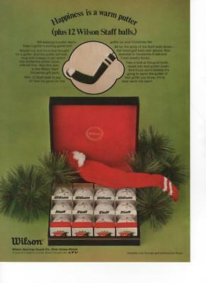 1969 - Wilson Golf Balls - Happiness Is A Warm Putter - Vintage Print Ad