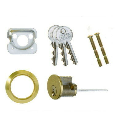 ERA 863-31 ERA Rim Cylinder with 3 Keys - Brass 44mm