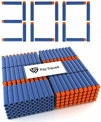 300 Pack, Nerf Compatible Foam Toy Darts by Ray Squad, Premium Refill Bullets...