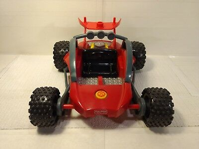 Fisher Price Rescue Heroes Dune Buggy Plastic Vehicle Toy Car 2001 dc2428