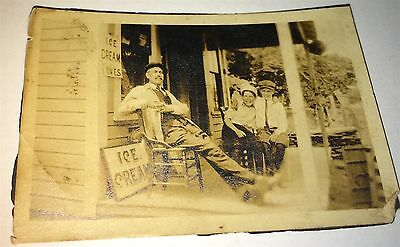 Rare Antique American Businessman George Thomas Ice Cream Advertising Mini Photo