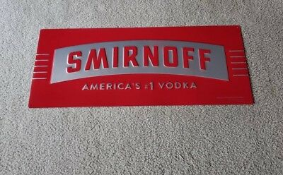 Smirnoff Vodka Americas #1 Vodka Bar Sign New USA SELLER