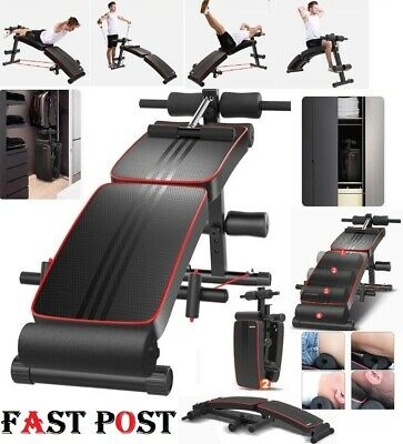 Foldable Adjustable Sit Up Abdominal Bench Press Weight Gym Ab Exercise Fitness
