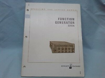 Hewlett Packard Hp 3312A Function Generator Operating & Service Manual Excellent