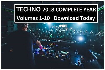 Techno DJ Collection - 2018 The Complete Year - DOWNLOAD TODAY or USB 30GB MP3