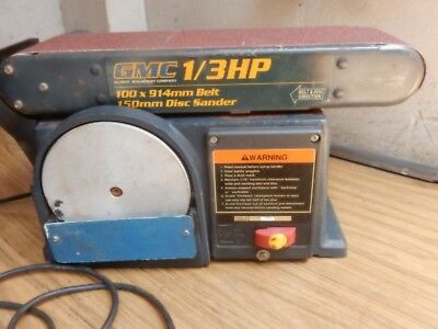 Gmc Belt Sander / Linisher + Disc Sander