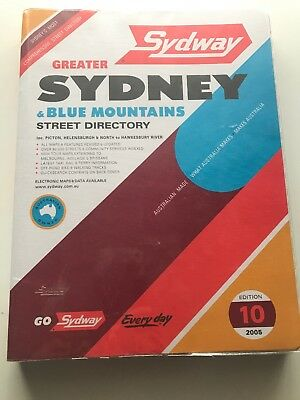 Sydway Greater Sydney & Blue Mountains 2005 10th edition Excellent Condition