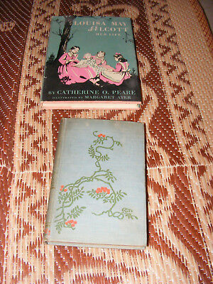 LOT OF 2 Louisa May Alcott,Catherine Peare 1954 FIRST EDITION AND 1880 GOLD DUST