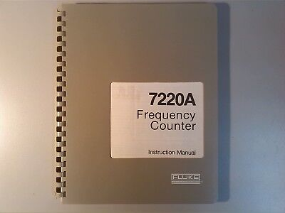 Fluke Frequency Counter 7220A Instruction Manual Circuits Rare Vintage Excellent