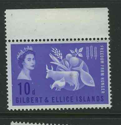 Gilbert  & Ellice Islands 1963 Freedom from Hunger #79 MNH