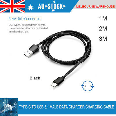 Type-C USB 3.1 Male Data Charger Charging Cable 1M 2M 3M Data Snyc Fast Charger