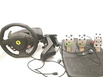 Xbox 360 Logitech Ferrari 458 Racing ThrustMaster Wheel With Pedals and Gears
