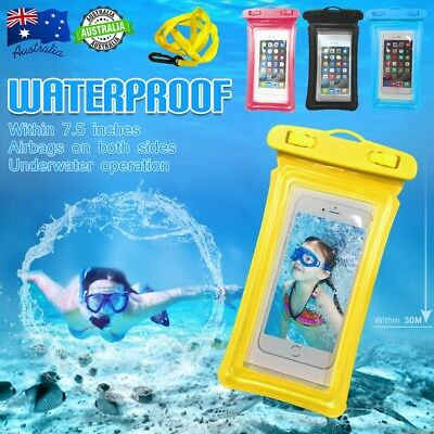"""7.5"""" Floating Waterproof Underwater Phone Pouch Bag Case Cover fr iPhone Samsung"""