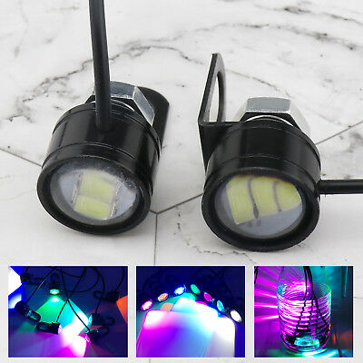 2x Aluminium Casing White LED Spot Light Motorcycle Driving Fog DRL Lamp 3W 12V