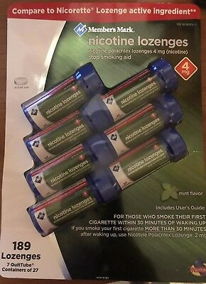 Member's Mark 4 mg Nicotine Lozenges, Mint (189 ct.)